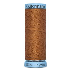 Gutermann Silk Thread, Colour 448, GOLDEN BROWN, 100 Metre Spool