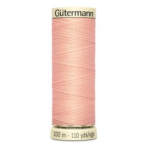 Gutermann Sew-all Thread 100m Colour 165 PEACH, 100% Polyester