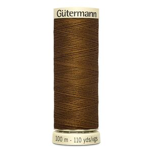 Gutermann Sew-all Thread 100m Colour 19 BRONZE BROWN, 100% Polyester