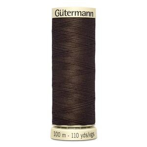 Gutermann Sew-all Thread 100m Colour 817 VERY DARK BROWN, 100% Polyester