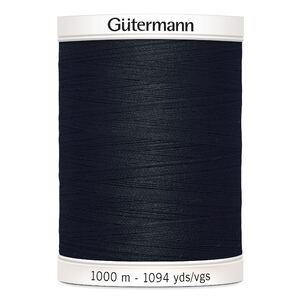 Gutermann Sew-all Thread 1000m, #000 BLACK, M292 100% Polyester