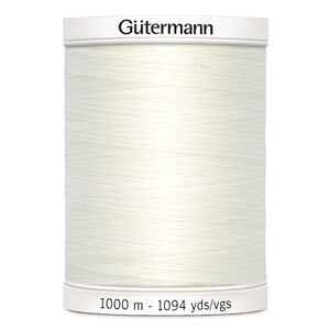 Gutermann Sew-all Thread, 100% Polyester, 1000m Colour 111, OFF WHITE