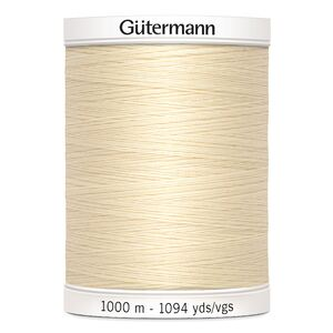 Gutermann Sew-all Thread #414 CREAM, M292 1000m 100% Polyester Sewing Thread