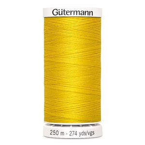 Gutermann Sew-all Thread 250m Colour 106 GOLDEN YELLOW, 100% Polyester