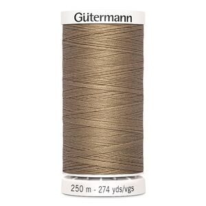 Gutermann Sew-all Thread 250m Colour 139 SEINNA BROWN, 100% Polyester