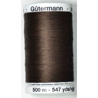 Gutermann Sew-all Thread 500m Colour 696, BLACK BROWN