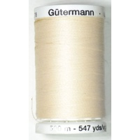 Gutermann Sew-all Thread 500m Colour 802, ECRU