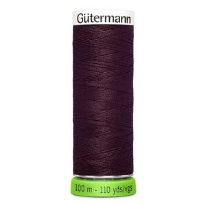 Gutermann Sew-All Thread rPET 100% Recycled Polyester, 100m Spool, Col. 130 DARK BURGUNDY