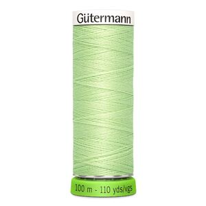 Gutermann Sew-All Thread rPET 100% Recycled Polyester, 100m Spool, Col. 152 VERY LIGHT GREEN