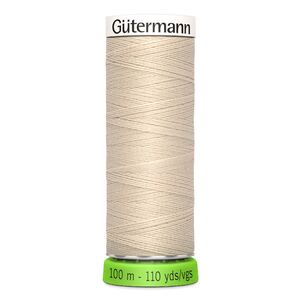 Gutermann Sew-All Thread rPET 100% Recycled Polyester, 100m Spool, Col. 169 NATURAL or CREAM
