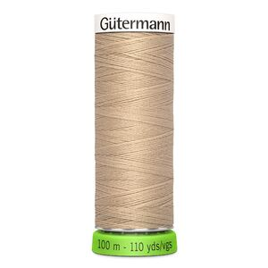 Gutermann Sew-All Thread rPET 100% Recycled Polyester, 100m Spool, Col. 186 BEIGE TAN