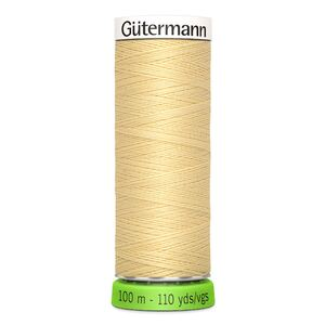 Gutermann Sew-All Thread rPET 100% Recycled Polyester, 100m Spool, Col. 325 CREAMY YELLOW