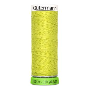Gutermann Sew-All Thread rPET 100% Recycled Polyester, 100m Spool, Col. 334 YELLOW GREEN