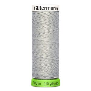 Gutermann Sew-All Thread rPET 100% Recycled Polyester, 100m Spool, Col. 38 LIGHT GREY