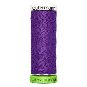 Gutermann Sew-All Thread rPET 100% Recycled Polyester, 100m Spool, Col. 392 DARK VIOLET