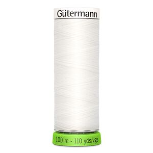 Gutermann Sew-All Thread rPET #800 WHITE, 100m 100% Recycled Polyester