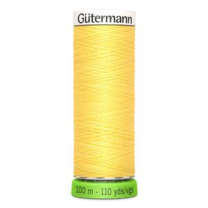 Gutermann Sew-All Thread rPET #852 YELLOW, 100m 100% Recycled Polyester