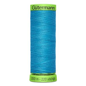 Gutermann Extra Fine Thread # 197 LIGHT CARIBBEAN BLUE, 200m Spool 100% Polyester