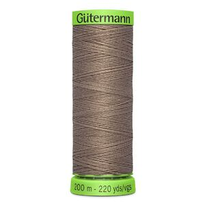 Gutermann Extra Fine Thread # 199 LATTE BROWN, 200m Spool 100% Polyester