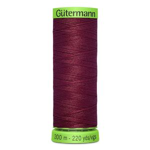 Gutermann Extra Fine Thread # 375 BURGUNDY, 200m Spool 100% Polyester
