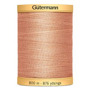 Gutermann Cotton Thread, Colour 1938 Peach, 800m Jumbo Spool