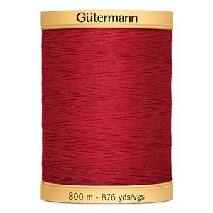 Gutermann Cotton Thread, Colour 2074 Red, 800m Jumbo Spool