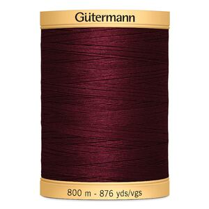 Gutermann Cotton Thread, 800m (876yds) #2833 Burgundy