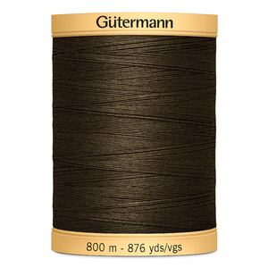 Gutermann Cotton Thread, Colour 2960 Brown, 800m Jumbo Spool