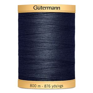 Gutermann Cotton Thread, 800m (876yds) #5413 Dark Blue