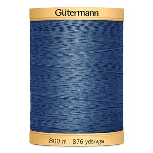 Gutermann Cotton Thread, Colour 5624 Blue, 800m Jumbo Spool