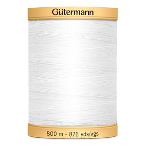 Gutermann Cotton Thread, 800m (876yds) #5709 WHITE