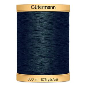 Gutermann Cotton Thread 800m (876yds), #8113, Hunter Green