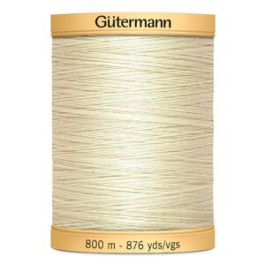 Gutermann Cotton Thread, #919 Egg White, 800m (876yds)