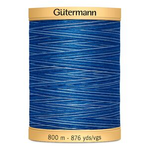 Gutermann Cotton Thread, 800m, Colour 9986, Variegated Blue