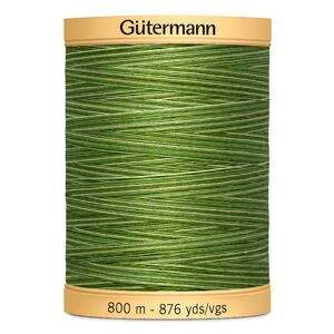 Gutermann Cotton 800M Colour 9994, Variegated Green