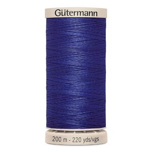 Gutermann Waxed Cotton Quilting Thread 200m Colour 4932 NAVY BLUE