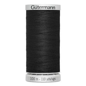 Gutermann Extra Strong Polyester Thread, #000 BLACK, 100m Spool