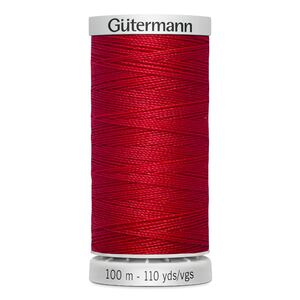 Gutermann Extra Strong Thread Colour 156 RED, 100m Spool