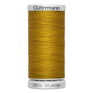 Gutermann Extra Strong Polyester Thread, Colour 412 DARK GOLD, 100m Spool