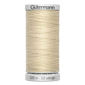 Gutermann Extra Strong Polyester Thread, #414 CREAM, M782, 100m Spool