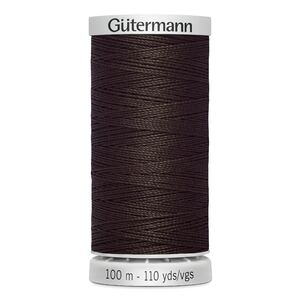 Gutermann Extra Strong Thread Colour 696 DARK BROWN, 100m Spool 100% Polyester