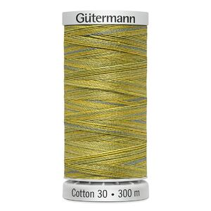 Gutermann Sulky Cotton 30, #4017 VARIEGATED YELLOW GREEN 300m Embroidery, Quilting Thread