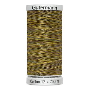 Gutermann Sulky Cotton 12, Colour 4009, VARIEGATED, 200m Spool Embroidery Thread