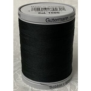 Gutermann Bobbin Thread BLACK (1005) 1000m Spool, Art. 709840