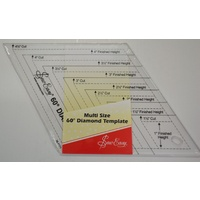 "Quilt Diamond Ruler, Multi Size, 60 Degree Diamond Template, 1 1/2"" to 4 1/2"""