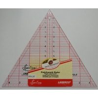 "Sew Easy Patchwork Ruler 8"" x 9.25"" 60 Degree Triangle, For Craft, Quilting & Patchwork"