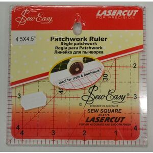 "Sew Easy Patchwork Ruler 4.5"" Square, Lasercut, For Crafts & Patchwork (TP)"