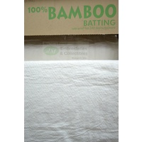 "Sew Easy 100% Natural Bamboo Batting with Scrim*, 254cm (100"") Wide, Per Metre"