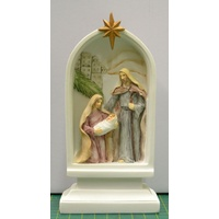 Holy Family Plaque Nativity Scene, LED Light, 165 x 80mm, Resin  LIMITED STOCK Remaining.