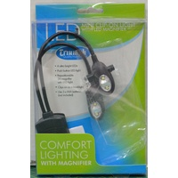 Triumph LED Mini Clip On Light With LED Magnifier, Flexible Goosenecks Any Angle.